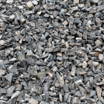 Loose Stone Gravel Background with Plenty of Copy Space